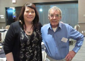 CPCA Administrator Michelle Rae and Jacques Poulin of the AEPQorganisateur de l'événement