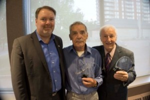 CPCA President Marcus Cormier with award recipients Jacques Poulin and Denis Goulet