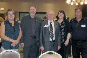 From left / de gauche à droite - Margo Middleton, Marcus Cormier, Gord Thompson, Michelle Rae, Mike Seibel